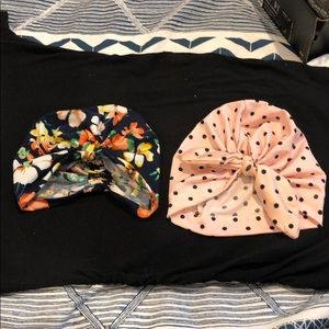 Other - Set of 2 baby girl turbans- 6-18 months